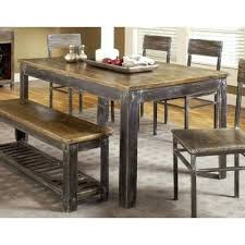 metal kitchen table. Trendy Distressed Wood Kitchen Tables Brilliant Dining With Metal Designs 10 Table B