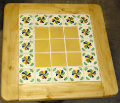talavera tile table colonial 3