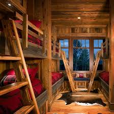 Interior Architecture Awesome Kids Room With Bunk Beds On A