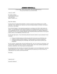 Job Resume Cover Letter Example Cover Letter Example For Job Resumes