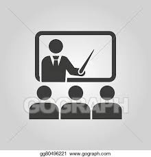 Symbol For Teacher Vector Clipart The Training Icon Teacher And Learner Classroom