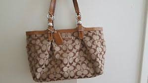 Image is loading coach-tote-medium-brown-monogram