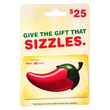 chili s 25 gift card1 0 ea