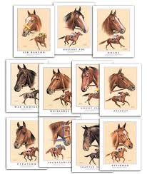 triple crown chions winners thoroughbred horse racing framed art prints gift items collectibles
