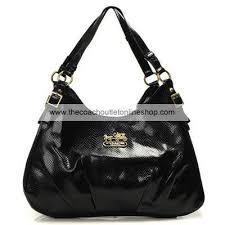 Black · Coach New Op Art Maggie Black Shoulder Bag