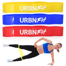 Stretch Band Loops Exercise Chart Urbnfit Loop Exercise Bands 3 Pack W Workout Guide Workouts Stretching And Rehabilitation Easy Medium Hard Booty Bands