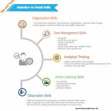 professional skills to develop list attention to detail skills business skills software