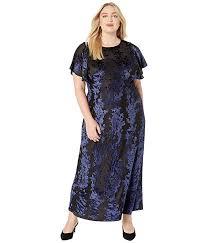 Kiyonna Velvet Burnout Gown Zappos Com