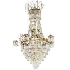 antique swedish crystal chandelier mid 19th century for