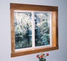 basement windows interior. Interior View Of Vinyl Basement Window With Finished Wood Trim. Windows