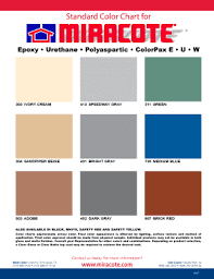 Miracote Color Chart Fillable Online Color Chart Miracote Fax Email Print