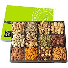 oh nuts 12 variety mixed nut gift basket holiday freshly roasted healthy gourmet snack