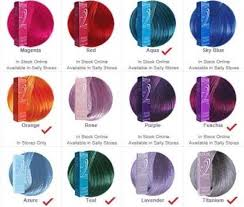 Ion Hair Dye Color Chart Ion Hair Colors Magenta Rose Lavender And Or Radiant