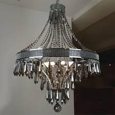 modern smoke crystal and black metal chandelier 9384 free ship pertaining to brilliant house smoke crystal chandelier remodel