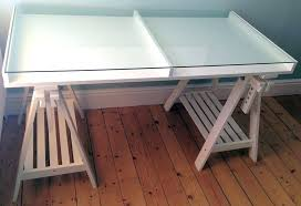 ikea desk glass top design of white glass display trestle desk table throughout glass top desk