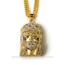 gold chain men hip hop trendy long necklace 24k gold plated crystal pendant necklace jewelry for women piece chain hip hop necklace hip
