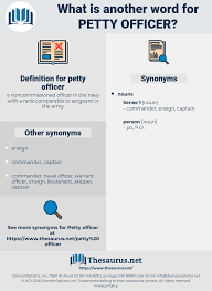 Synonyms For Petty Officer Thesaurus Net