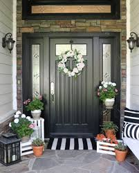 Exterior Entryway Designs 36 Simple Spring Entryway Ideas On A Budget House With