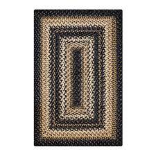 black and cream rug. Buy Kilimanjaro Black - Cream Jute Braided Rugs Online In Usa And Rug