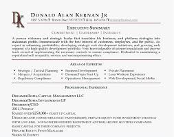 Summary For Resume Best Executive Summary Resume Bradfordpa Us Resume Format Downloadable