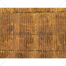 corroded and rusty corrugated metal roof panels