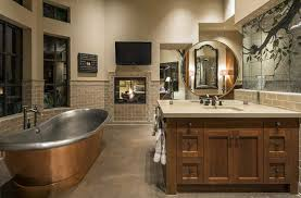 bathtub lighting. craftsman master bathroom with brushed copper and polished nickel bathtub lighting b