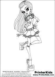 Monster High Color Page Monster High Coloring Pages Baby Abbey Kids