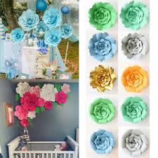 Paper Flower Diy Wedding Paper Flower Backdrop Wall Large Rose Flowers Diy Wedding Party Home