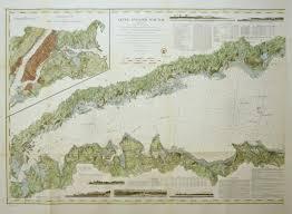 Long Island Sound 1855 Set Of Three By U S Coast Survey