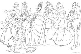 Free Disney Princess Coloring Pages Disney Princesses Coloring Page