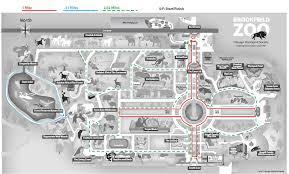 brookfield zoo map. Interesting Zoo Walking Map Of Brookfield Zoo On R