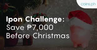 Ipon Challenge Chart Ipon Challenge Save Php 7 000 Before Christmas Coins Ph