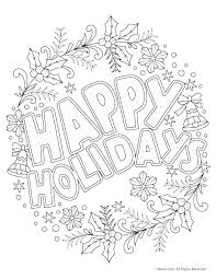 Holiday Coloring Pictures To Print Holiday Coloring Pages To Print