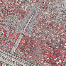 distressed rug value for home decor ideas elegant garden of paradise signed persian rugs uk vintage