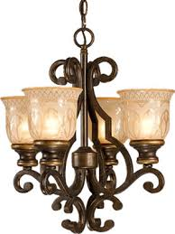 crystorama 7404 bu wrought iron 17 4 light chandelier or ceiling light