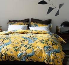 dwellstudio modern duvet covers chic bed linens bedding sets pea citrine duvet set