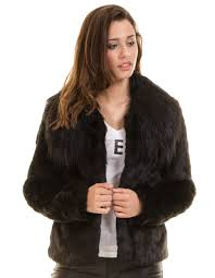 guess faux fur coat agata
