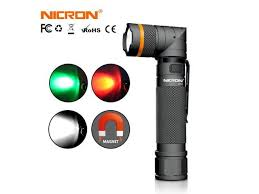 <b>NICRON Magnet 90 Degree</b> Rechargeable LED Flashlight Handfree ...