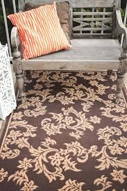 fab habitat recycled plastic rug indoor outdoor rug versailles chocolate brown
