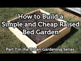 how to build a wood raised bed garden
