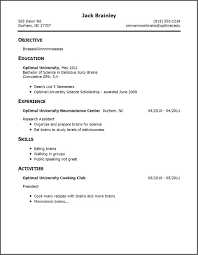 examples of resumes resume template summer job objective job
