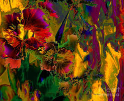 abstract digital art abstract flowers by doris wood