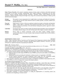 Sample Financial Controller Resume Executive Cfo Resume Cover
