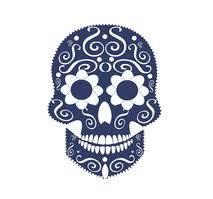 Lebka Vektorový Pozadí Pro Módní Design Vzory Tetování Vektory Z