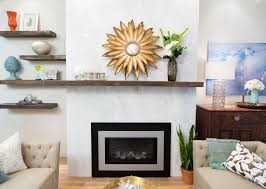 floor to ceiling marble and a gas insert spruced up this fireplace property brothers season 7 episode 6