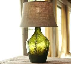 wine jug lamp glass jug lamps glass table lamp base green pottery barn diy wine bottle lamp projects