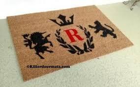 personalized front door matsRegal Crest with Monogram Custom Doormat by Killer Doormats