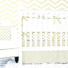 white and gold crib bedding metallic chevron set per black polka dot