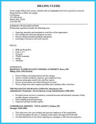 Resumes For Medical Coders Unique Billing Specialist Resume ...