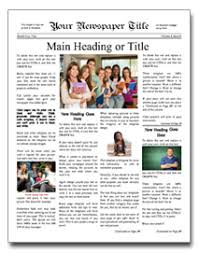 Where Can I Find A Newspaper Template Newspaper Layout Template For Any Occasion Makemynewspaper